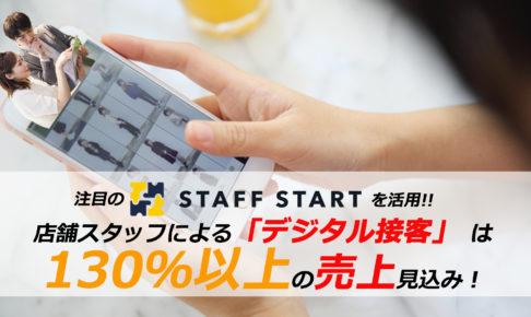 店舗スタッフによる「デジタル接客」は130%以上の売上が見込めます!